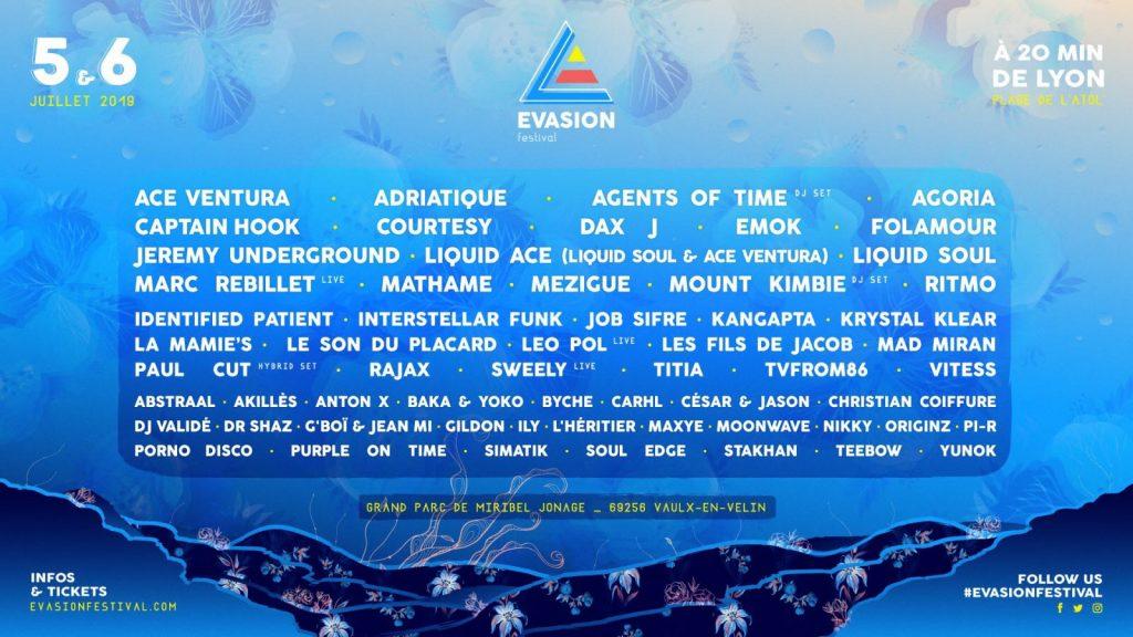 évasion festival Techno House Trance